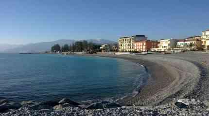 La spiaggia di Bordighera