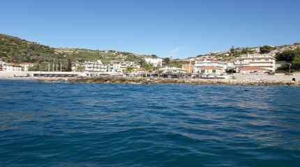 Lo stabilimento visto dal mare