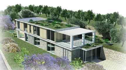 Render della nuova villa da edificare